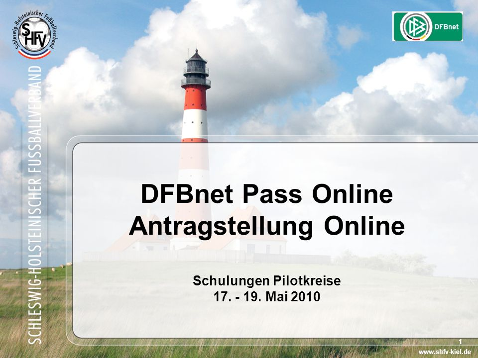 DFBnet Pass Online Antragstellung Online Schulungen Pilotkreise 17