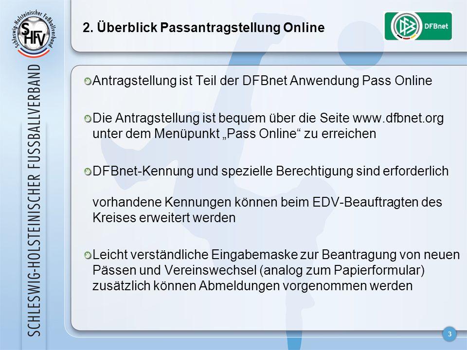 2. Überblick Passantragstellung Online