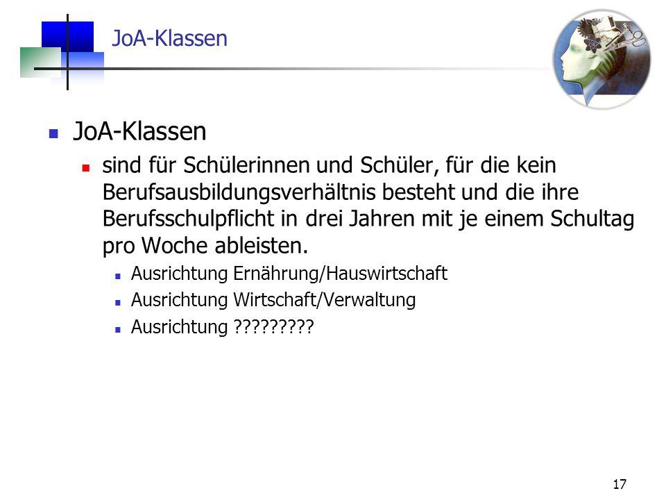 JoA-Klassen JoA-Klassen
