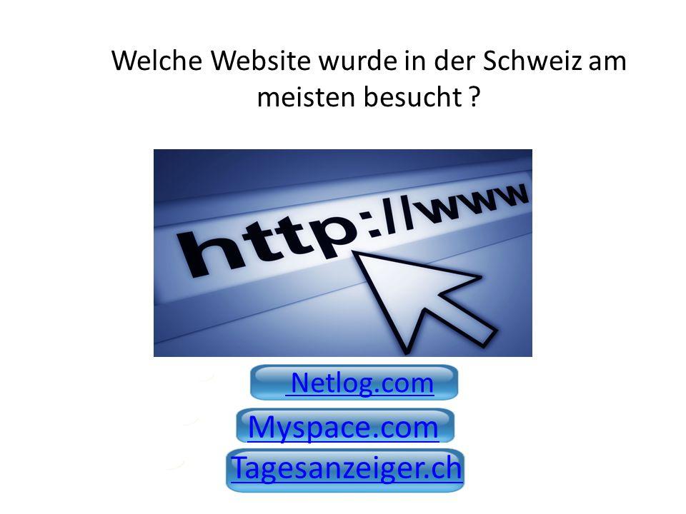 Welche Website wurde in der Schweiz am meisten besucht