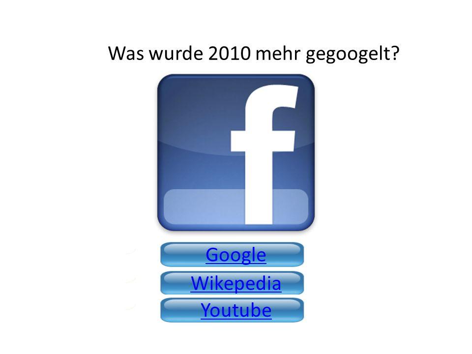 Was wurde 2010 mehr gegoogelt