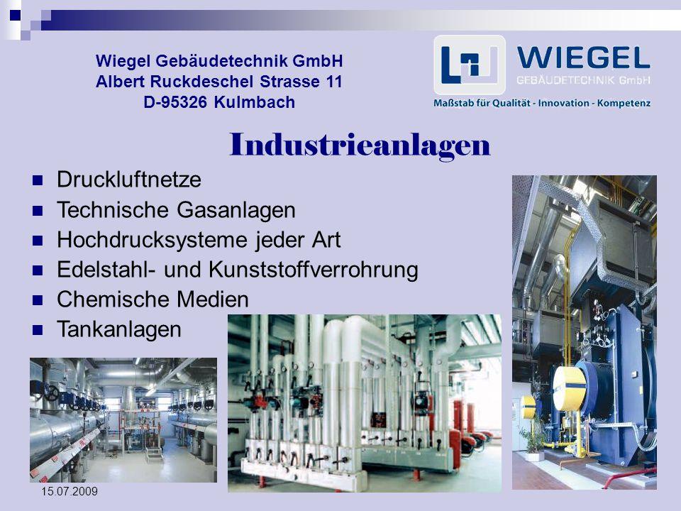 Industrieanlagen Druckluftnetze Technische Gasanlagen
