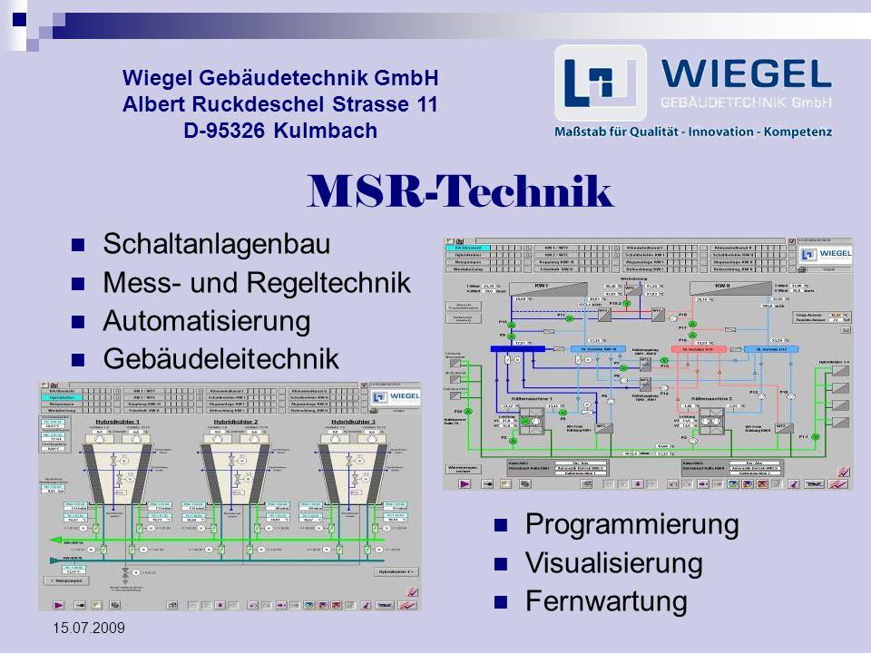 MSR-Technik Schaltanlagenbau Mess- und Regeltechnik Automatisierung