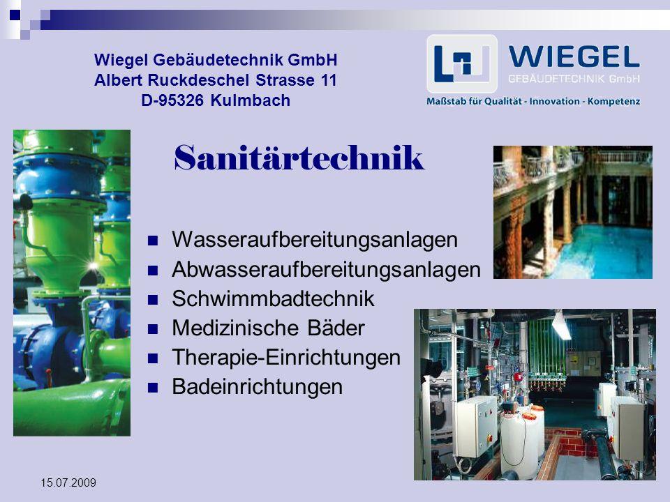 Sanitärtechnik Wasseraufbereitungsanlagen Abwasseraufbereitungsanlagen