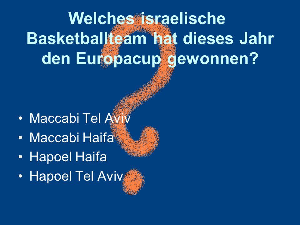Welches israelische Basketballteam hat dieses Jahr den Europacup gewonnen