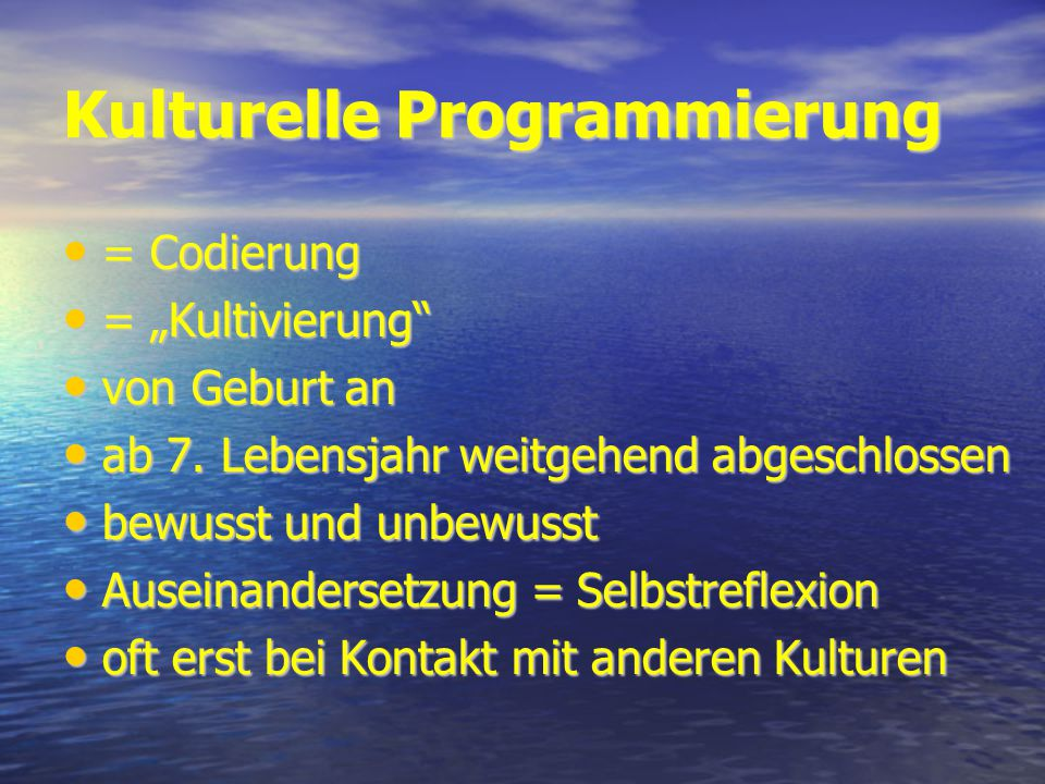 Kulturelle Programmierung
