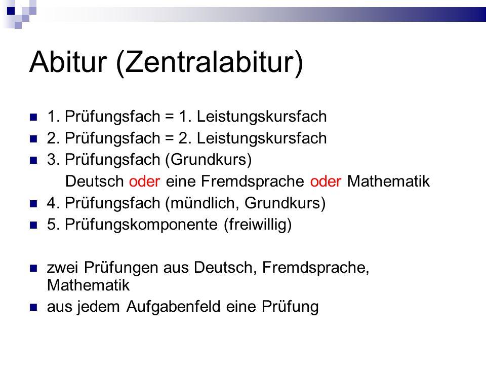 Abitur (Zentralabitur)