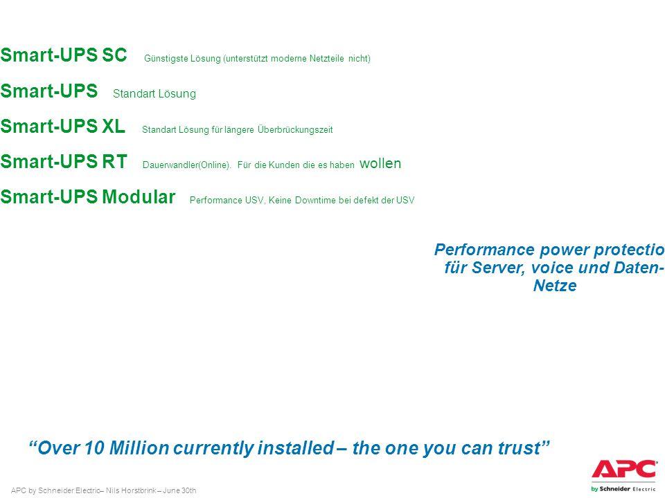 Performance power protection für Server, voice und Daten- Netze