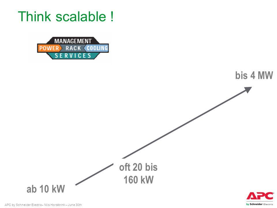 Think scalable ! bis 4 MW oft 20 bis 160 kW ab 10 kW