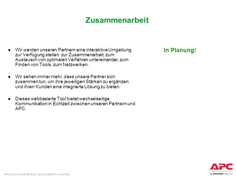 Zusammenarbeit In Planung!