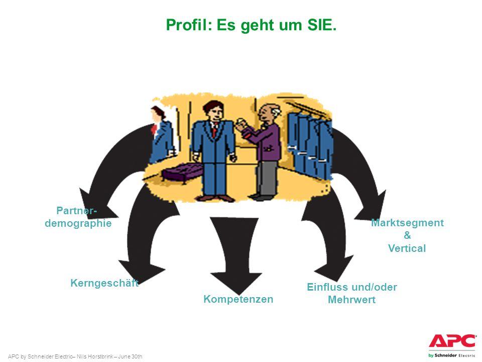 Profil: Es geht um SIE. Partner- demographie Marktsegment & Vertical