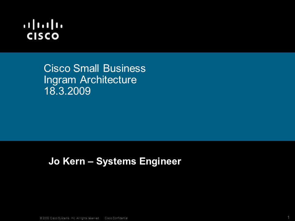 Cisco Small Business Ingram Architecture 18.3.2009