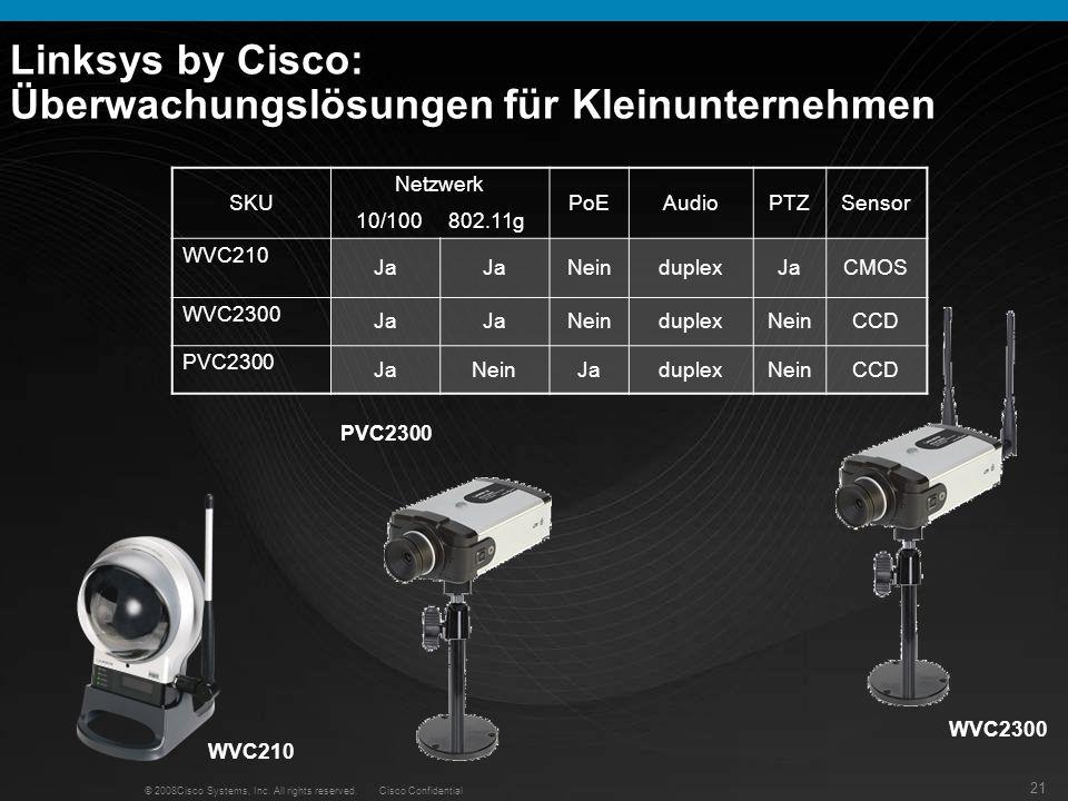 Linksys by Cisco: Überwachungslösungen für Kleinunternehmen