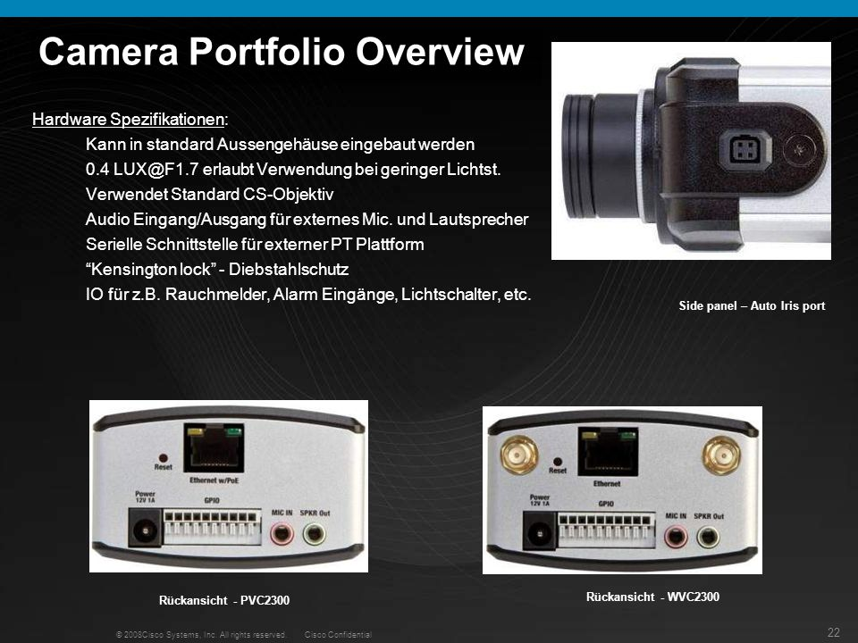Camera Portfolio Overview