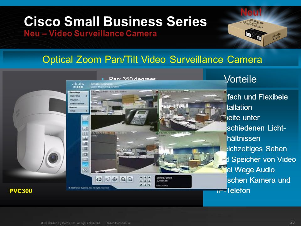 Cisco Small Business Series Neu – Video Surveillance Camera