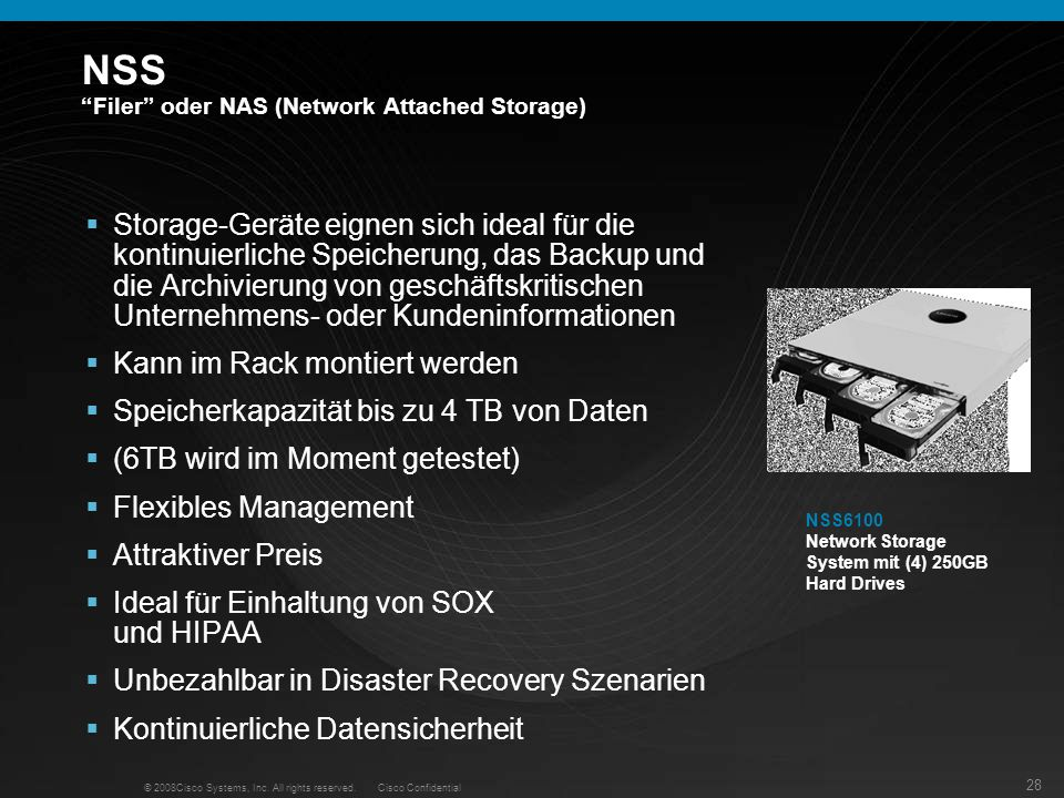 NSS Filer oder NAS (Network Attached Storage)