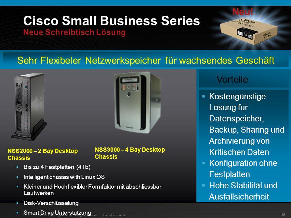 Cisco Small Business Series Neue Schreibtisch Lösung