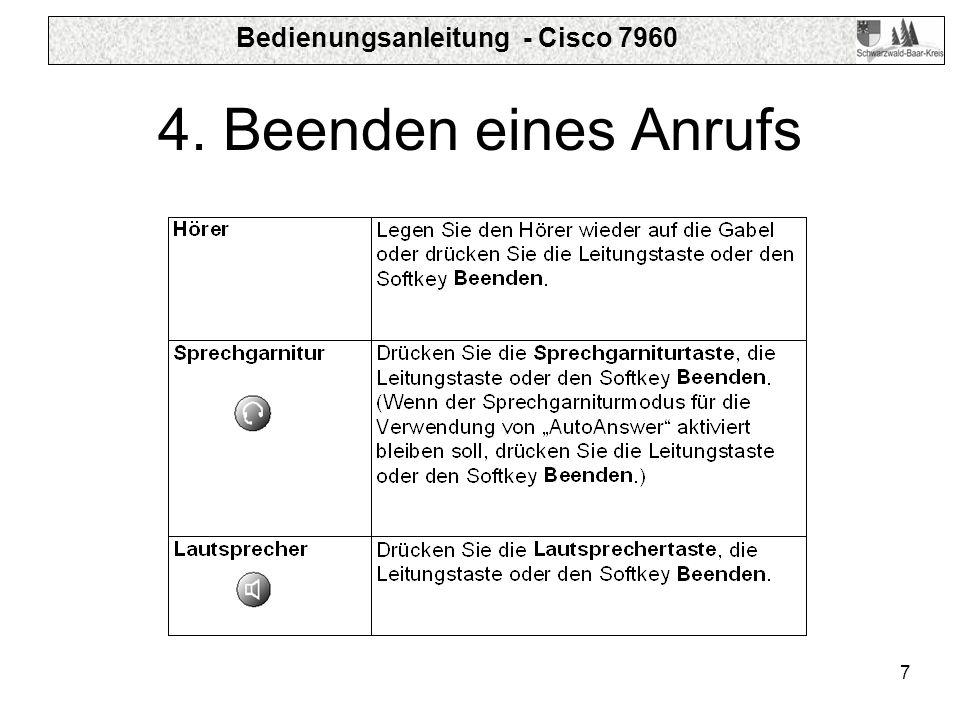 Bedienungsanleitung - Cisco 7960