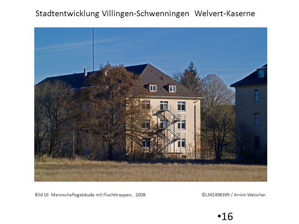Bild 16 Mannschaftsgebäude mit Fluchttreppen, 2008