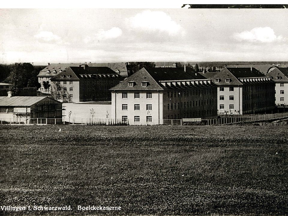 Die Boelcke-Kaserne Erbaut 1935/36