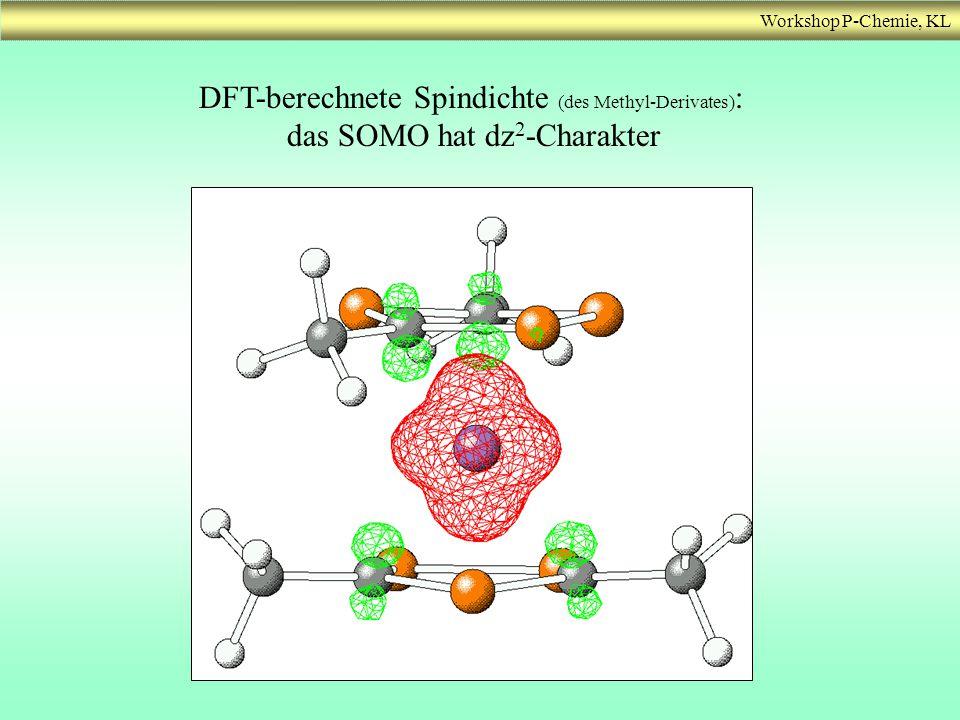 DFT-berechnete Spindichte (des Methyl-Derivates):