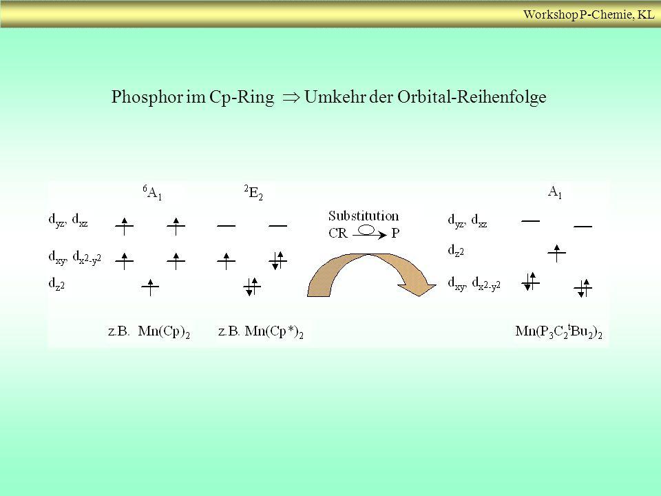 Phosphor im Cp-Ring  Umkehr der Orbital-Reihenfolge