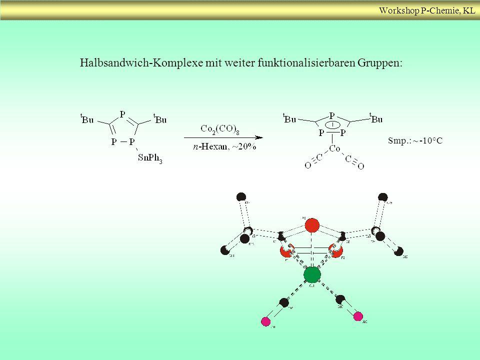 Halbsandwich-Komplexe mit weiter funktionalisierbaren Gruppen: