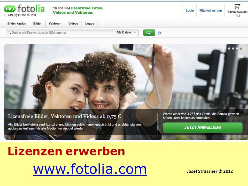 www.fotolia.com Lizenzen erwerben Lizenzen erwerben