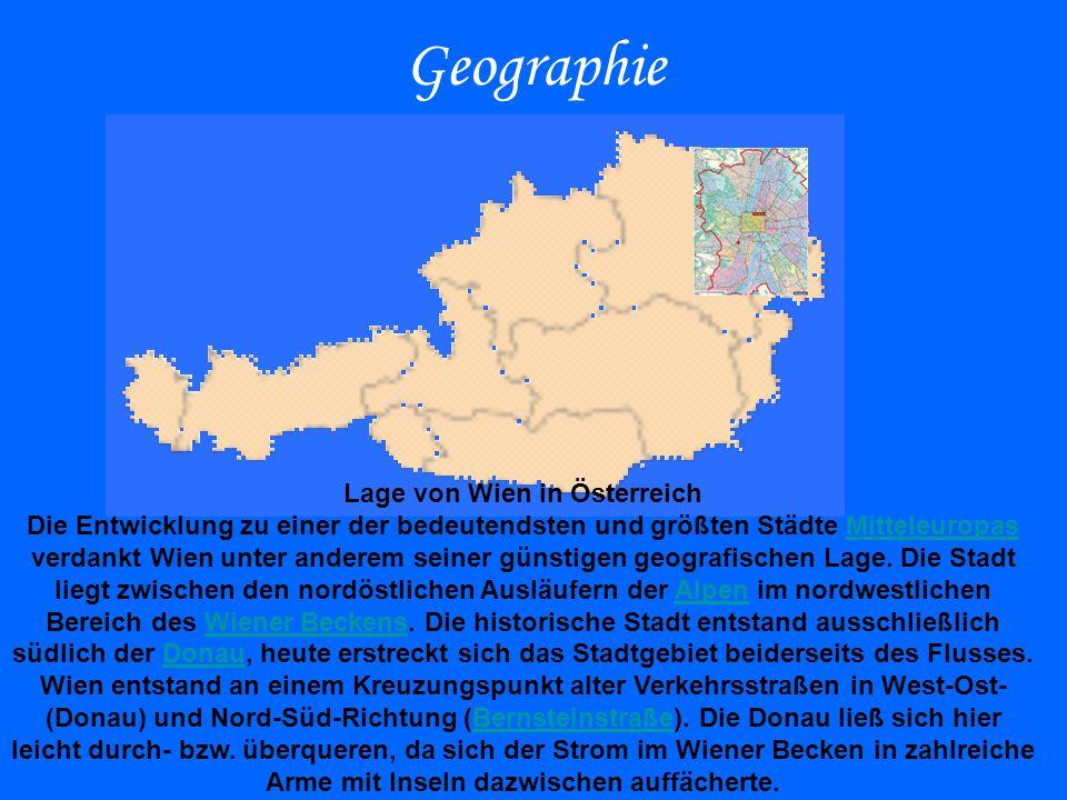 Lage von Wien in Österreich