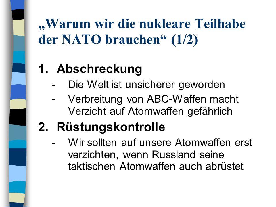 """""""Warum wir die nukleare Teilhabe der NATO brauchen (1/2)"""