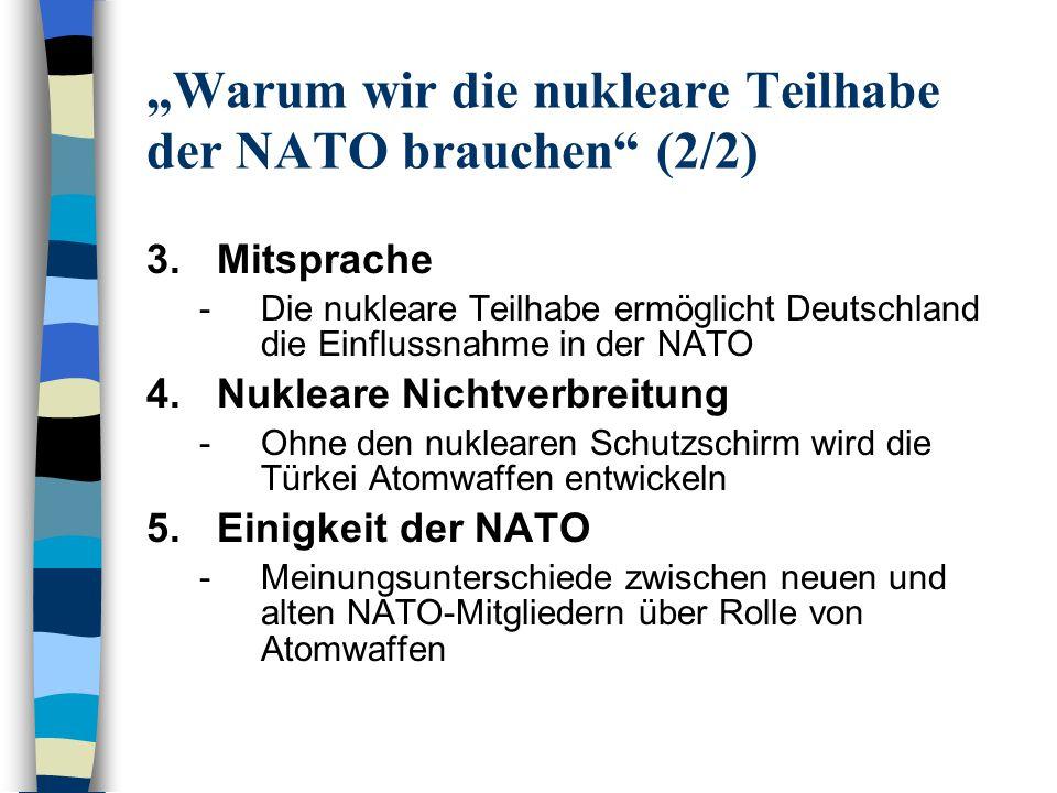 """""""Warum wir die nukleare Teilhabe der NATO brauchen (2/2)"""