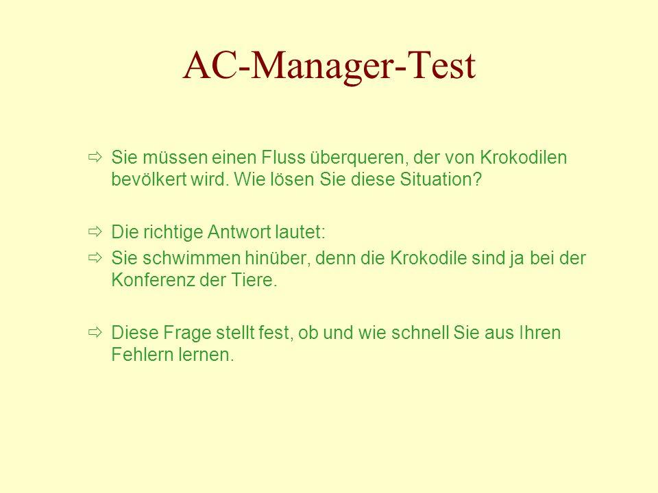 AC-Manager-Test Sie müssen einen Fluss überqueren, der von Krokodilen bevölkert wird. Wie lösen Sie diese Situation
