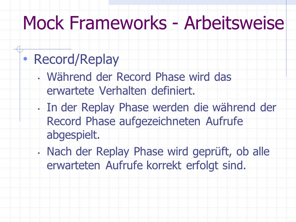 Mock Frameworks - Arbeitsweise