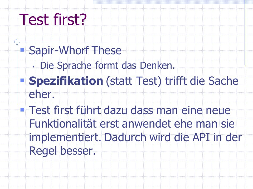 Test first Sapir-Whorf These