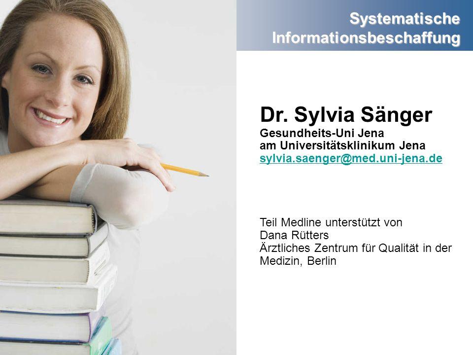 Dr. Sylvia Sänger Gesundheits-Uni Jena