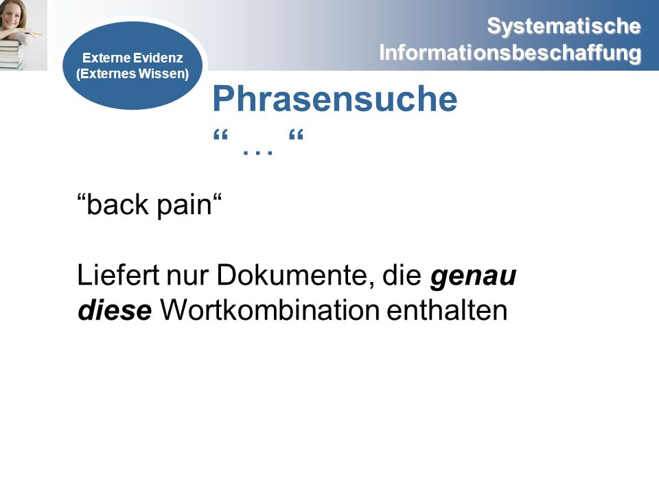 Phrasensuche … back pain