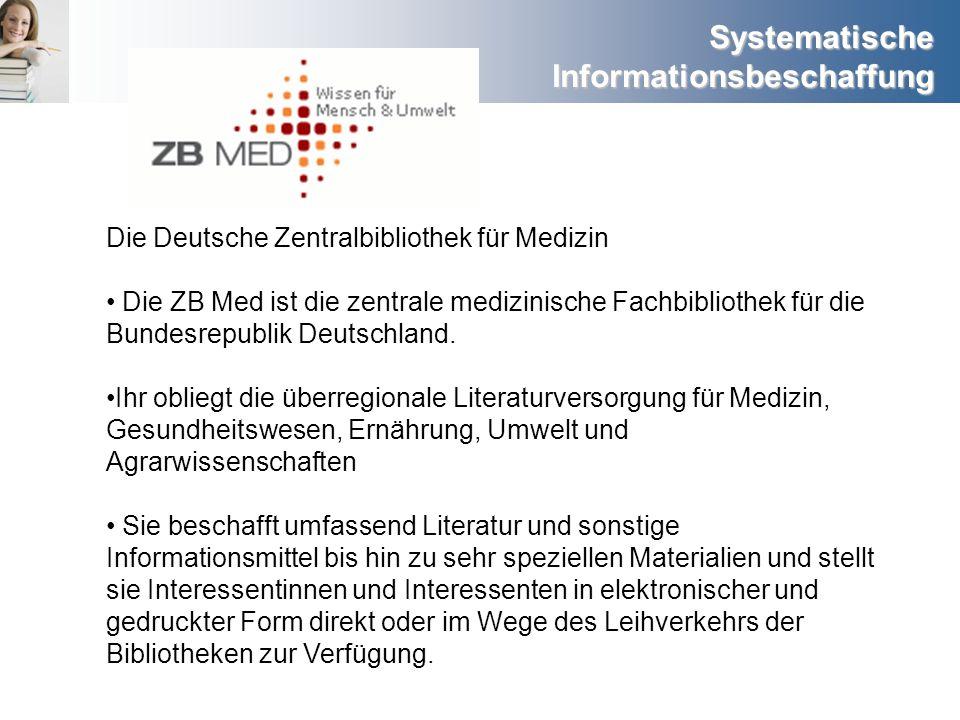 Die Deutsche Zentralbibliothek für Medizin