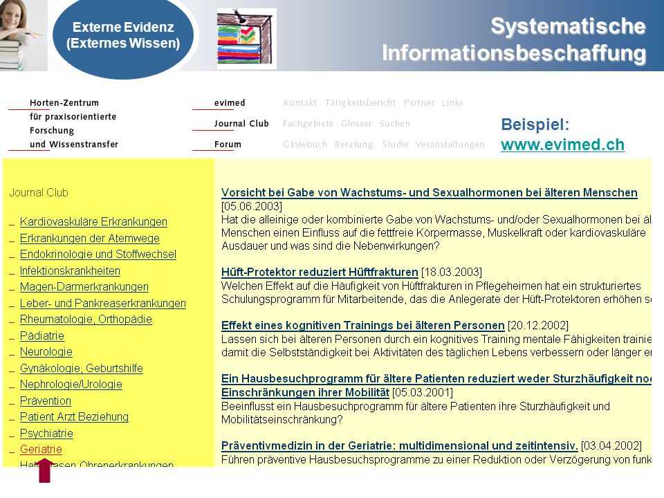 Beispiel: www.evimed.ch