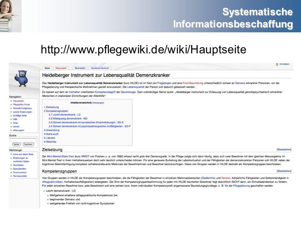 http://www.pflegewiki.de/wiki/Hauptseite