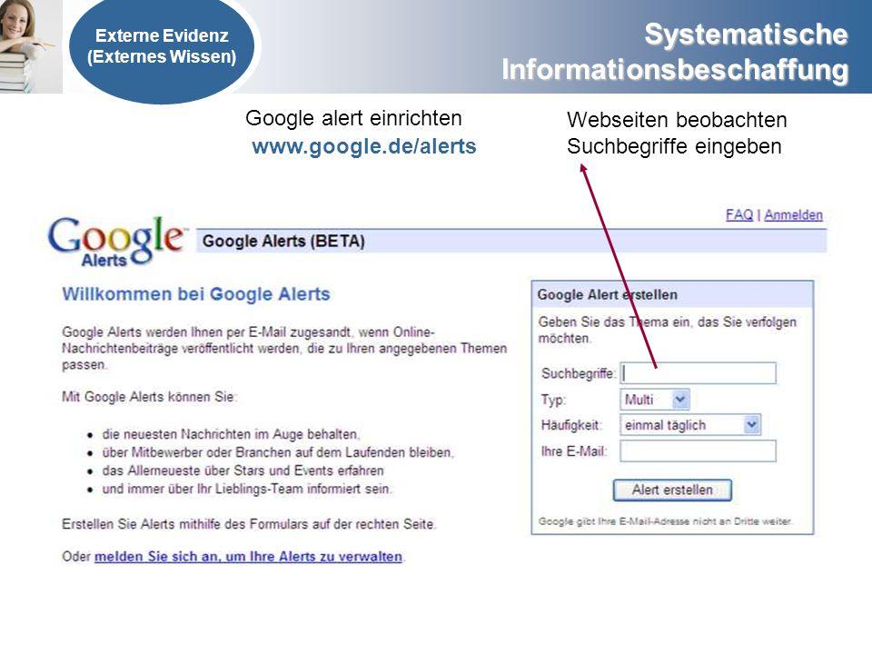 Google alert einrichten Webseiten beobachten Suchbegriffe eingeben