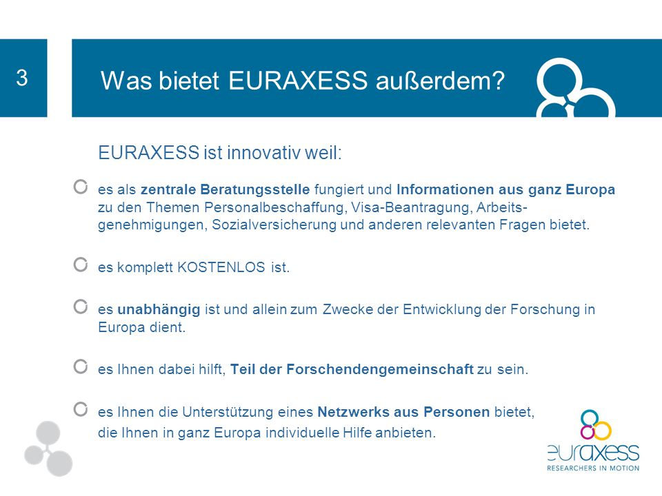 Was bietet EURAXESS außerdem