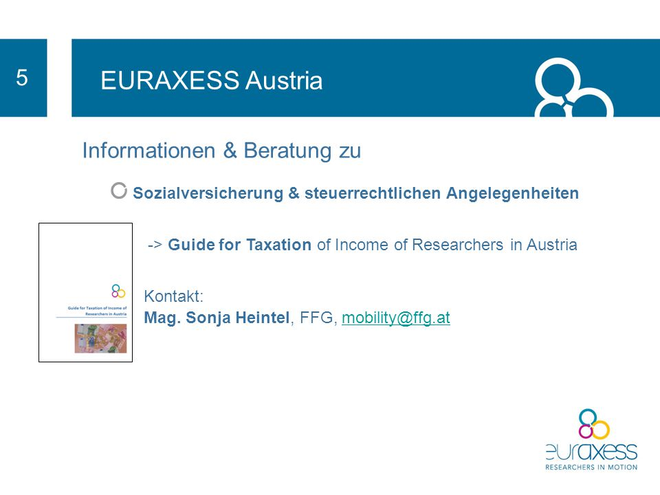 EURAXESS Austria 5 Informationen & Beratung zu
