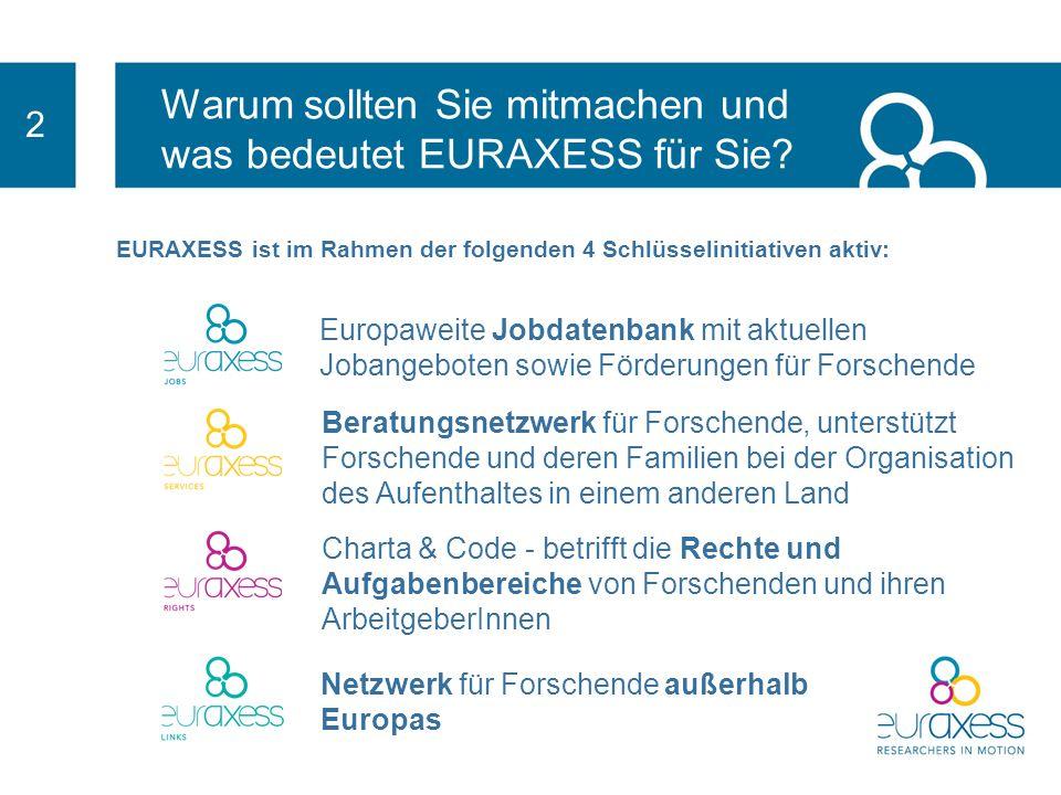 Warum sollten Sie mitmachen und was bedeutet EURAXESS für Sie