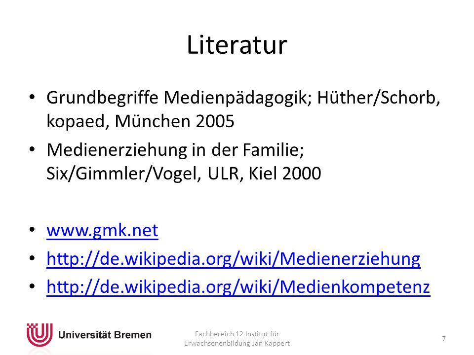 Fachbereich 12 Institut für Erwachsenenbildung Jan Kappert