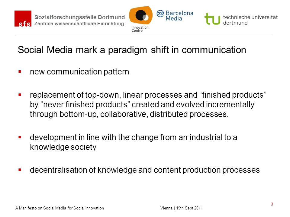 Social Media mark a paradigm shift in communication
