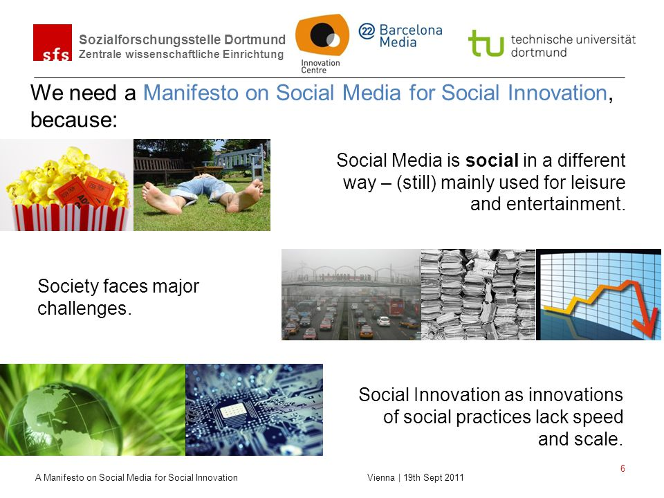 We need a Manifesto on Social Media for Social Innovation, because: