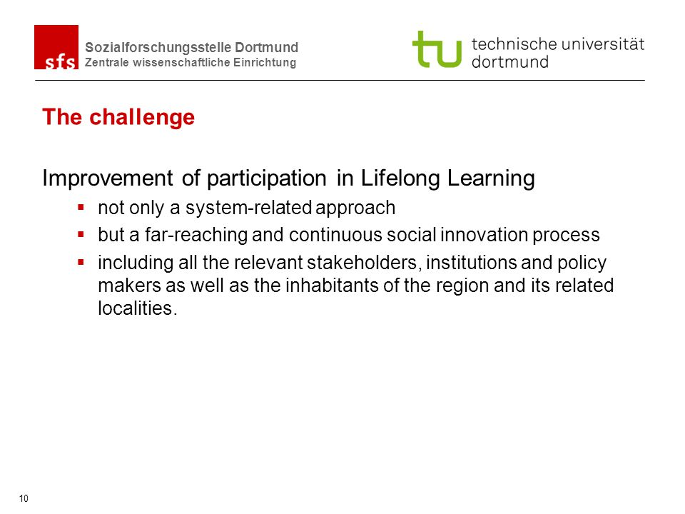 Improvement of participation in Lifelong Learning