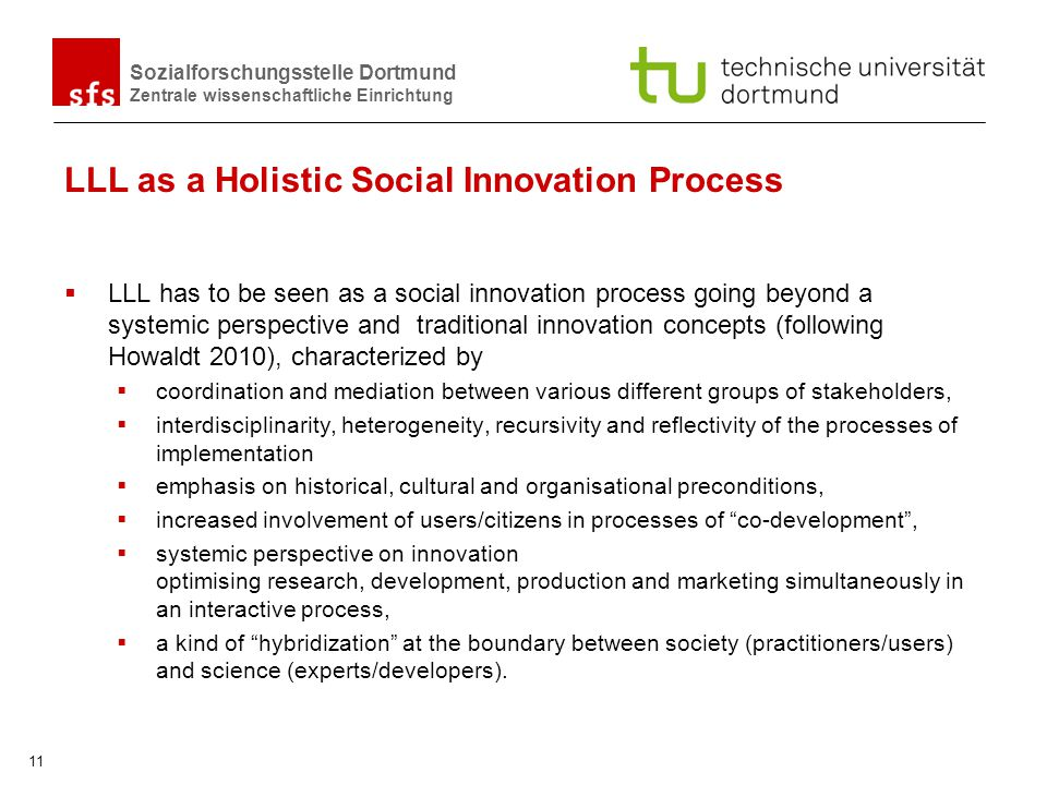 LLL as a Holistic Social Innovation Process