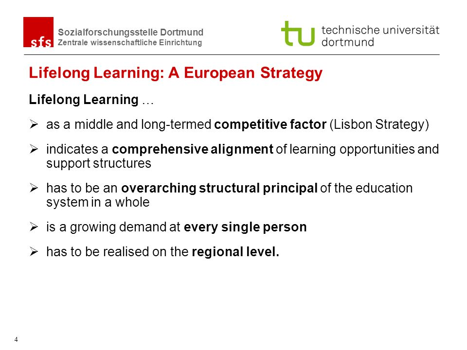 Lifelong Learning: A European Strategy