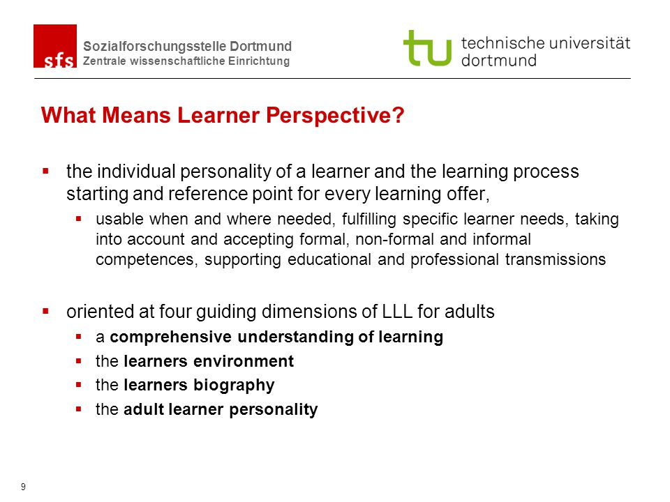 What Means Learner Perspective